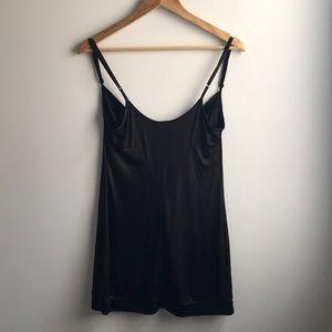 Grey Ant Tops - Grey Ant black shiny slip style tunic top